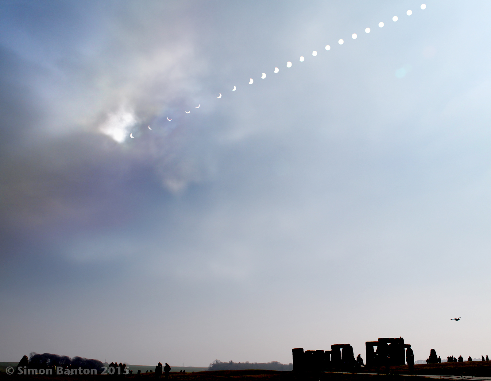 March 20th 2015 solar eclipse timelapse montage over Stonehenge