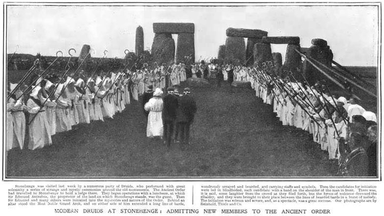 Ancient Order of Druids at Stonehenge 1905